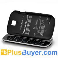 Wholesale Wireless Slide-Out Bluetooth Keyboard + Detachable Case For Samsung Galaxy S4 - Black from china suppliers