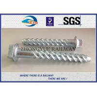 Wholesale ASTM Standard Hot-Dip Galvanized Spiral Spikes,screw spikes, dog spikes from china suppliers