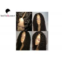Wholesale Tangle-Free Curly Women Natural Black Brazilian Human Hair Lace Wigs from china suppliers