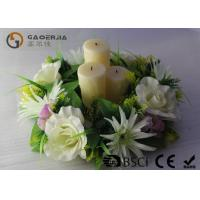 Wholesale Flickering Flame Led Wax Candle , Advent Wreath Votive Candles Multi Color from china suppliers