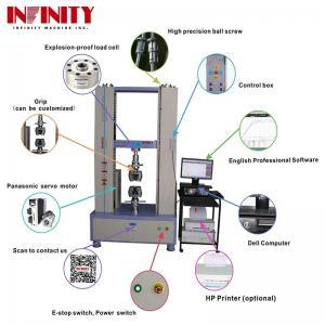 Quality 100Kn 200Kn 300Kn Rebar Metal Plastic Textile Tape Universal Tensile Testing Machine for sale