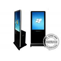 Quality Wifi Network Touch Screen Kiosk with Printer, Indoor Floor Standing Lcd Advertising Standee Kiosk for sale