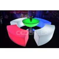 Wholesale Curved Glowing Lit Furniture Led Bar Chair Used Nightclub Bench from china suppliers