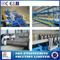 Quality Sandwich Panel Roll Forming Machine Continuous Line For Industrial & Residential Sectional Doors for sale