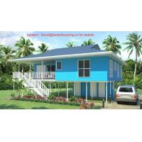 Wholesale Fireproof Two-Story Prefab Beach Bungalow , Blue Home Beach Bungalows from china suppliers