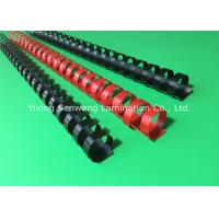 Wholesale Black / Red Plastic Binding Combs 20mm Punched Into Papers Rectangular Holes from china suppliers