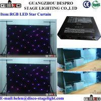 Wholesale Twinkle Light RGB LED Star Curtain For Night Event Stage Decoration from china suppliers