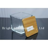 Wholesale square Candle Jar Lids, Wooden lid from china suppliers