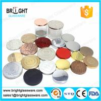 Wholesale hot sale metal candle lids with customized logo for candle jar from china suppliers