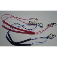 Wholesale Protection coil leash custom color fishing kayak rod tackle spiral coil lanyard cord end from china suppliers
