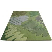 Wholesale Durable Green / Blue Modern Area Rug, Abstract Patterned Acrylic Decorative Carpet from china suppliers