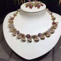 Wholesale Luxury jewelry Factory Bvlgari Colored gemstone  necklace 18k gold white gold yellow gold rose gold  diamond  necklace from china suppliers