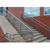 China Low Hardness Stainless Steel Pipe Railing , Steel Pipe Handrail For Bridge / Road / Factory on sale