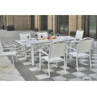 Wholesale Aluminium Outdoor Patio Furniture 7 Piece Table And Chairs For Dining / Seating from china suppliers
