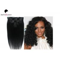 Wholesale Natural Balck Grade 7A Virgin Clip In Hair Extension , Straight Human Hair Weaving from china suppliers