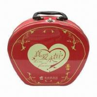 Wholesale Red Lunch Tin Box with 4C + Coating Print, Various Colors and Sizes Available from china suppliers