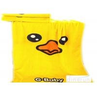 Wholesale Thickened Soft Oversized Beach Towels Duck Cartoon Yellow Color 70*140cm from china suppliers