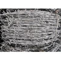 Wholesale Tata Zinc Coated Security Barbed Wire For Fencing , Prison Barbed Wire from china suppliers