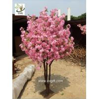 Wholesale UVG miniature cherry blossom tree artificial trees indoor with pink flowers for weddings from china suppliers