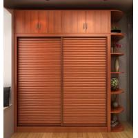 Wholesale Double Sliding Door Fitted Wardrobes Bedroom Interior With Side Frame from china suppliers