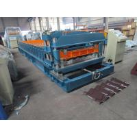 Wholesale Color Steel Sheet Metal Roll Forming Equipment / Spanishi Tile Roll Forming Machine from china suppliers