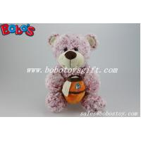 "Wholesale 12""Red Flower Plush Fabric Teddy Bear With Honey Pot As Grils Toys from china suppliers"