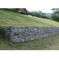 Wholesale PVC Grey Stone Cage Retaining Wall Seal For Soil , Stainless Steel Wire from china suppliers