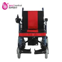 Aluminum Alloy 16 Inch Fold Indoor Electric Wheelchair Self Braking Wheelchair