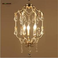 Wholesale Chandeliers for Dining room Bedroom Kitchen home Lights 3 Lights lustres para sala de jantar modern crystal chandelier from china suppliers