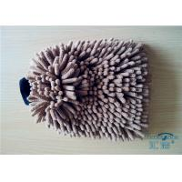 Wholesale Seamless Scratch Free Microfiber Wash Mitt 100% Polyester Plush Car Wash Mitt from china suppliers