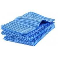 Wholesale OEM Blue Eco-friendly Alcohol Free Folding Hand Towels 70% Viscose 30% Polyester from china suppliers