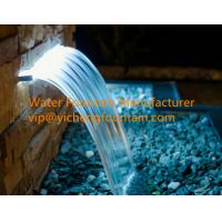 Wholesale Rectangle Water Fall Nozzle Pond Fountain Accessories With Led Strip Light from china suppliers