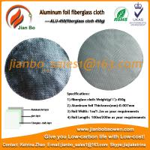 Buy cheap Aluminum foil fiberglass cloth ,energy saving aluminum foil heat insulation sheet from wholesalers