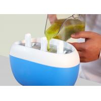 China Nature Nutritious Ice Lolly Pop Maker , Instant Popsicle Freezer Revolve Cap Design on sale