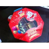 Wholesale Octangle Packaging Metal Tin Box Ferrero Kinder Joy Toy With Divder Inside And Pvc Window from china suppliers