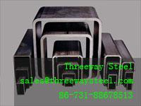 Quality Painted Rectangular Steel Pipe Welded Large diameter thick for sale