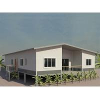 Quality Portable Prefab Granny Unit high set town house in steel structure at low price, special for PNG market for sale