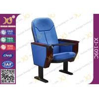 Buy cheap Big Conference Hall Auditorium Chairs With ABS Tablet Foldable / Audio System Inside from wholesalers