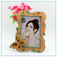 China Home decorative metal and jewel picture photo frame on sale