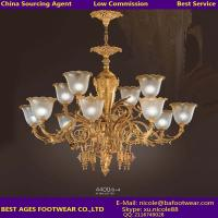 Wholesale 2015 Modern new iron golden chandelier, Low commission agent for lighting in Guzhen from china suppliers