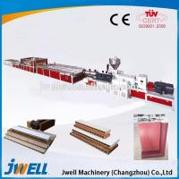 Wholesale Jwell PVC plastic cross door plate extrusion line from china suppliers