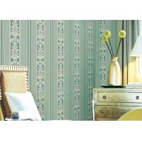 Wholesale Washable Classic Striped Floral Wallpaper , Vinyl Material Durable Wall Coverings from china suppliers