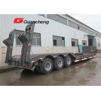 Wholesale Lowboy gooseneck trailer 3 axle low bed semi trailer  with rail from china suppliers