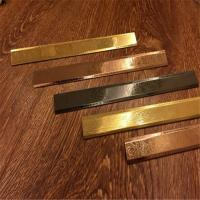 Wholesale Stainless steel hairline finish flat bar titanium color from china suppliers