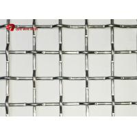 China Architectural Mining Screen Mesh Woven Wire Locked Crimped Mesh In Stainless Steel on sale