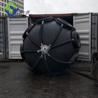China 2.5*3.5m Pneumatic rubber marine fender with chain and tyre net in black for sale