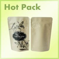 Wholesale Customized 16oz Natural Kraft Paper Stand Up Pouches Packaging With Window from china suppliers