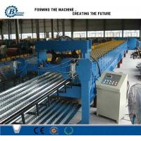Wholesale Metal Steel Floor Deck Roll Forming Machine , Corrugated Roofing Sheet Making Machine from china suppliers