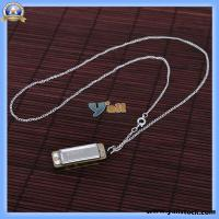 Wholesale Silver Mini Harmonica 4 Hole 8 Tone Necklace-Y00472 from china suppliers