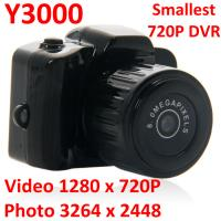 Wholesale Y3000 8MP Thumb 720P Mini DVR Camera Smallest Outdoor Sports Spy Video Recorder PC Webcam from china suppliers